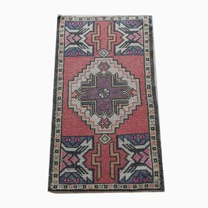 Small Vintage Hand-Knotted Rug