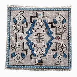 Small Vintage Wool Rug