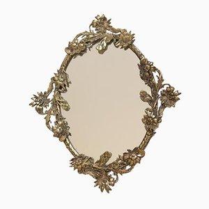 Specchio piccolo vintage in bronzo