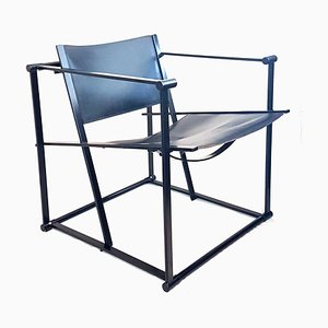 Leather & Steel FM61 Chair by Radboud Van Beekum for Pastoe, 1980s