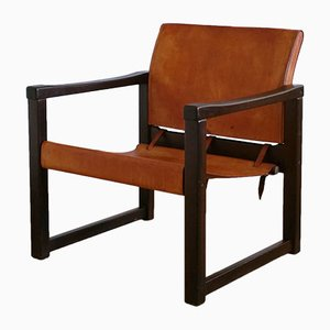 Leather and Pine Lounge Chair by Karin Mobring for Ikea, 1970s