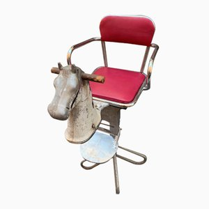 Italian Cast Iron Barber's Chair from Zerbini Torino, 1960s