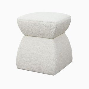 White Mohair Cusi Pouf from KABINET, 2019