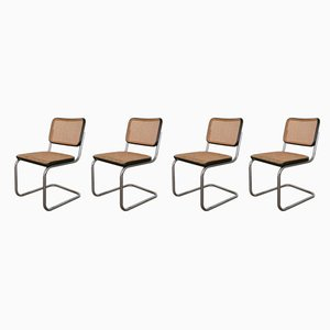 S32 Dining Chairs by Marcel Breuer for Thonet, 1986, Set of 4