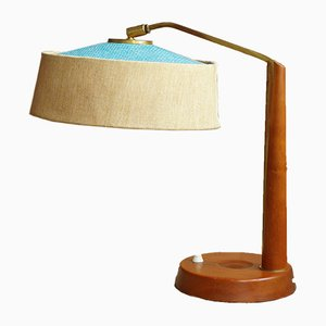 German Wooden Table Lamp from Temde, 1960s
