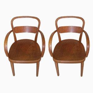 Armlehnstühle aus Holz von Thonet, 1930er, 2er Set