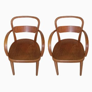 Wooden Armchairs from Thonet, 1930s, Set of 2