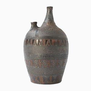 Große brutalistische Vintage Vase von Rogier Vandeweghe für Amphora