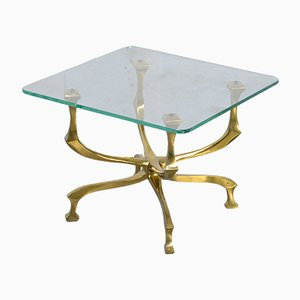 Vintage Bronze Side Table by Willy Daro