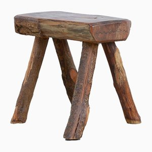 Vintage Wooden Stool from Mobichalet