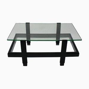 Table d'Appoint Laquée Noire, 1960s