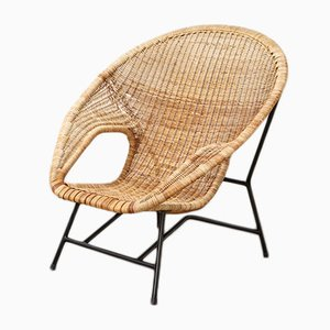 Model 500 Rattan Lounge Chair by Dirk van Sliedregt, 1959
