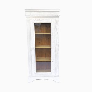 Antique White Softwood Showcase