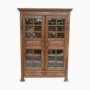 Antikes französisches Bücherregal aus Eichenholz