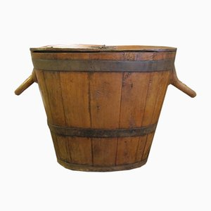 Antique Wooden Honey Pot