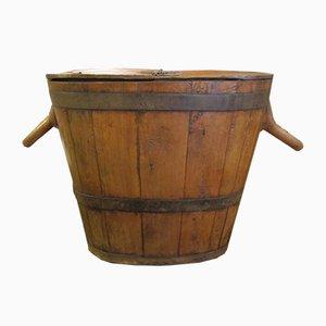 Pot à Miel Antique en Bois
