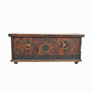 Antique Painted Linen Chest, 1847