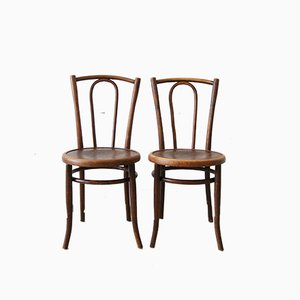 Bentwood Bistro Chairs, 1920s, Set of 2