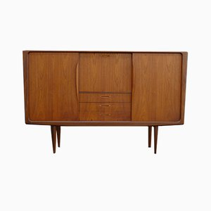 Vintage Danish Teak and Walnut Highboard by H.W. Klein for Bramin
