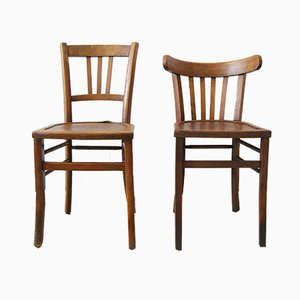 Vintage Bistro Chairs, Set of 2