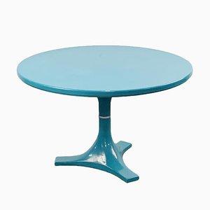 Table de Salle à Manger Ronde Turquoise par Anna Castelli Ferrieri & Ignazio Gardella pour Kartell, 1966