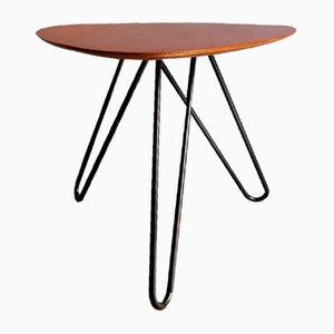 Table Basse Vintage en Teck et en Métal