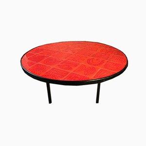 Table Basse Émaillée en Céramique par Roger Capron, 1970s