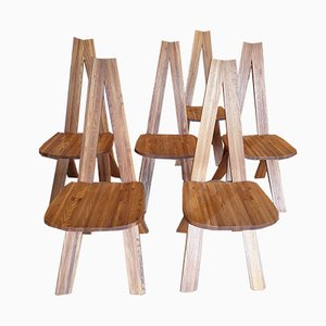 Model S45A Chairs by Pierre Chapo, 1970s, Set of 6