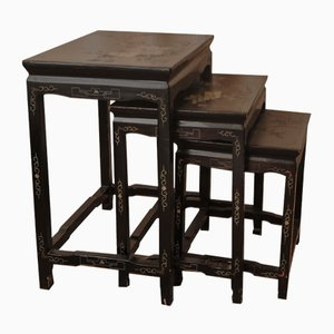 Antique Chinese Coromandel Nesting Tables