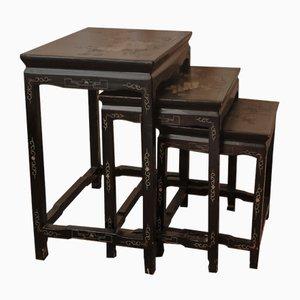 Tavolini ad incastro Coromandel antichi, Cina