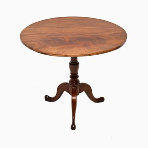 Tavolo Giorgio III antico in mogano con ripiano ribaltabile