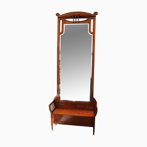 Specchio da ingresso grande Art Nouveau antico