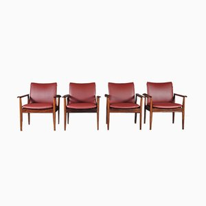 209 Diplomat Chairs in Rosewood by Finn Juhl for Cado, 1960s, Set of 4