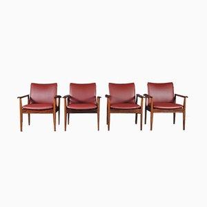 209 Diplomat Stühle aus Palisander von Finn Juhl für Cado, 1960er, 4er Set