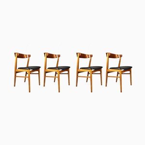 Danish 206 Chairs from Farstrup Møbler, 1960s, Set of 4