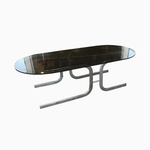 Tempered Glass Coffee Table, 1970s