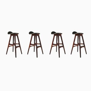 O.D 61 Stools by Erik Buch for Oddense Maskinsnedkeri AS, 1960s, Set of 4