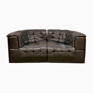 Sofá modular modelo DS 11 de retales de cuero de De Sede