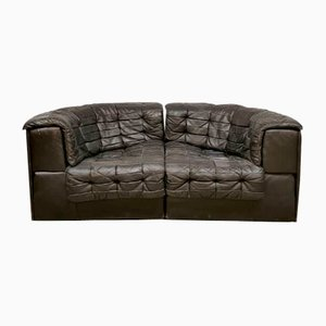Vintage Model DS 11 Modular Bank Patchwork Leather Sofa from de Sede
