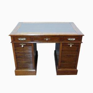 Antiker Schreibtisch mit Rolltüren