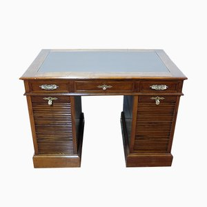 Antique Desk with Tambour Doors