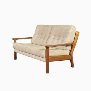 Dänisches Sofa aus Teak und Wolle von Juul Kristensen für Glostrup, 1960er