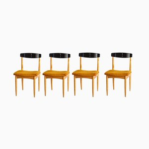 Mid-Century Beech Dining Chairs, 1960s, Set of 4