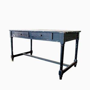 Tavolo antico nero, inizio XX secolo