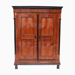Antique Biedermeier Cherry Armoire, 1830s