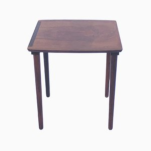 Small Vintage Danish Rosewood Side Table from Möbelintarsia