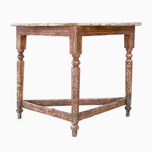 Antique Louis Philippe Style Italian Fir Console Table