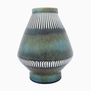 Skandinavische moderne Keramikvase von Carl-Harry Stålhane für Rörstrand, 1950er