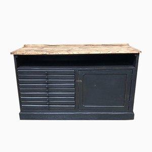 Mobiletto vintage industriale in legno, anni '20