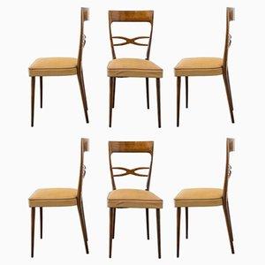 Italienische Esszimmerstühle aus Buche von Melchiorre Bega, 1950er, 6er Set
